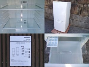 Panasonic 2ドア冷蔵庫 138L NR-TB147W 2015年製