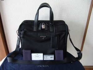 PRADA (プラダ) ブリーフケース PORTA COMPUTER VA0609
